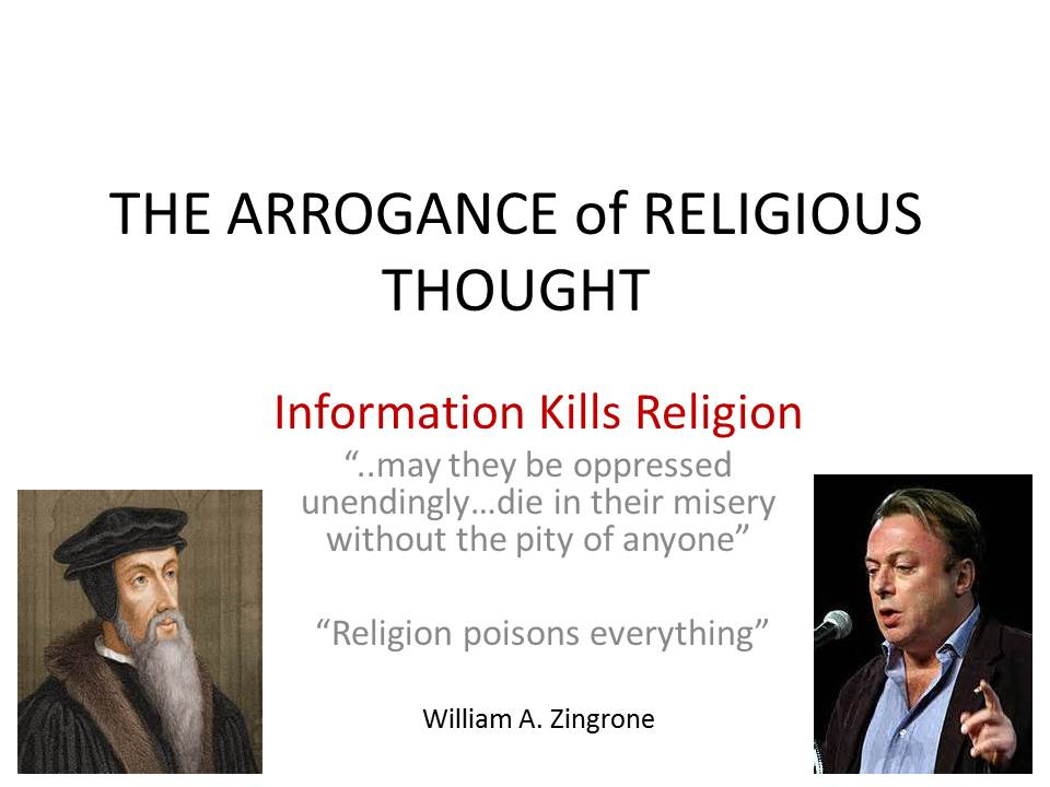 THE ARROGANCE of RELIGIOUS THOUGHTPAGE1