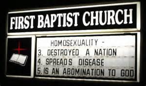 homophobicchurchsign